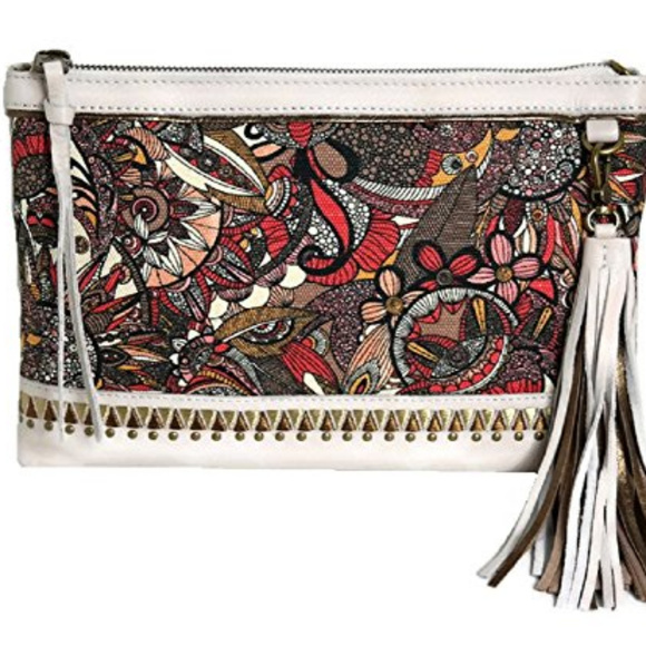 Sakroots Handbags - Sakroots Artist Circle -Ruby Clutch Crossbody
